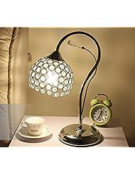 Lámpara de led creativa cristal mesa lámparas lámpara de noche dormitorio moderno atenuación cálida luz cálida , 2