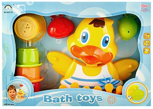 Badespielzeug Wasserpark Badeente mit Wasserrad und 7 Aktivitäten