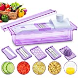 #10: Smile Mom 5 in 1 Grater, Cutter, Slicer, Shredder, Juicer for Vegetable and Fruits, Violet