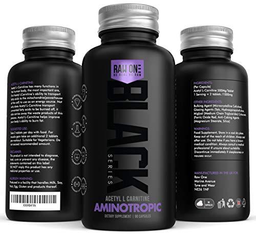 Acetil L-Carnitina Extreme 1000mgs por porción (2 tabletas) Por BioKing Labs | Cápsulas potenciadoras de energía | Mejora el rendimiento atlético | Poderoso Nootropic | Hecho en el Reino Unido!