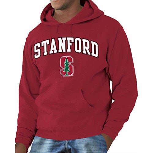 Campus Colors Campus Farben Stanford Cardinal Erwachsene Arch & Logo Gameday Sweatshirt mit Kapuze-Kardinal, Herren, Scharlachrot, XX-Large -