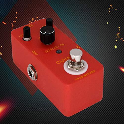Sguan-wu ODRIVE-TS Overdrive Pedal de efecto de guitarra Respuesta dinámica True Bypass Stompbox - Rojo