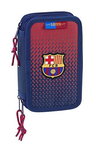 Safta Estuche F.C. Barcelona Corporativa Oficial Escolar Incluye 36 Útiles 125x55x195mm