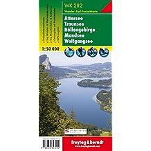 Freytag Berndt Wanderkarten, WK 282, Attersee - Traunsee - Höllengebirge - Mondsee - Wolfgangsee - Maßstab 1:50.000