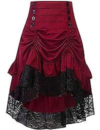 Cytree Damen Amelia Gothic Button Steampunk Gekräuselten Kuchen Rock Styles  Low High Röcke 22601360ab