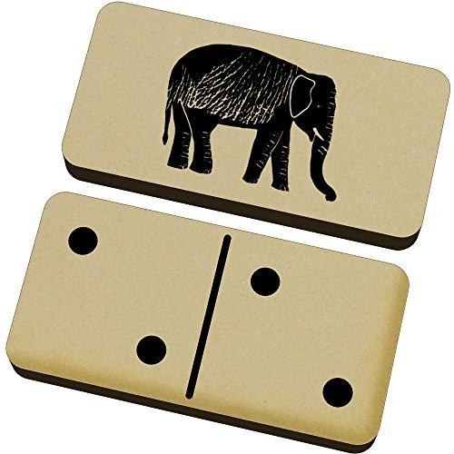 Azeeda 'Elefante' Domino Juego y Caja (DM00004744)