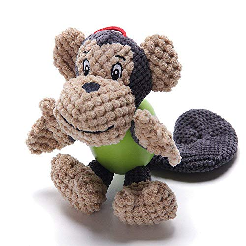 TFENG Squeaky Dog Toy Puppy Plush Toys Monkey
