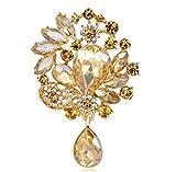 TYun Lega di Diamante in Vetro Fiore All'Occhiello di 3,7 * 5,7Centimetri