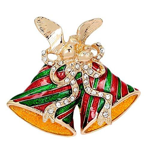 teine Diamanten Bunter Vogel Glocken Pins Stil Weihnachten Geschenk Frauen Brosche/Herren Brosche Anzug Brooch/Urlaub Zubehör/Hochzeit Dekoration/Geburtstags Geschenk Pin,1 Stuck ()