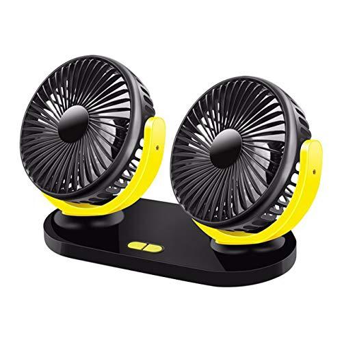 Ventilador universal para automóvil de doble cabeza para automóvil Ventilador de automóvil...