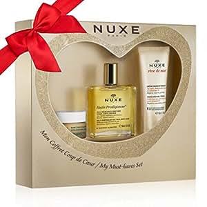 Nuxe - Mon Coffret Coup de Coeur - Huile Prodigieuse 50ml + Rêve de Miel Baume lèvres 15g + Rêve de Miel Crème Mains et Ongles 30ml