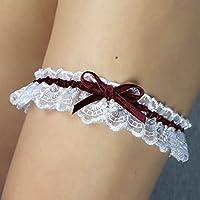 Giarrettiera di pizzo nozze matrimonio sposa biancheria intima regali de nozze Swarovski
