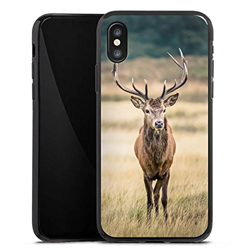 Apple iPhone 6 Plus Hülle Case Handyhülle Hirsch Wald Tier Silikon Case schwarz