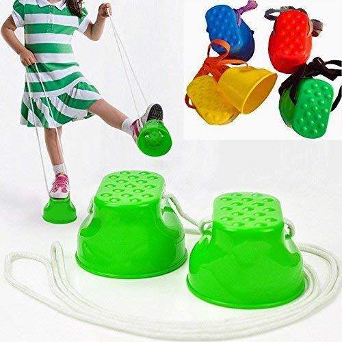 xiton Buytra 1 Paar springen Stelzen Kunststoff Gleichgewicht springen Stelzen Spielzeug Füße