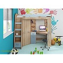 suchergebnis auf f r hochbett mit schreibtisch und schrank. Black Bedroom Furniture Sets. Home Design Ideas