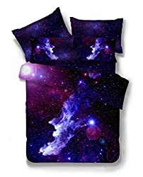 2 PIECE Galaxy Bedding Set Oil Print Duvet Cover Set Kids Bedding for Boys and Girls(Twin,12)