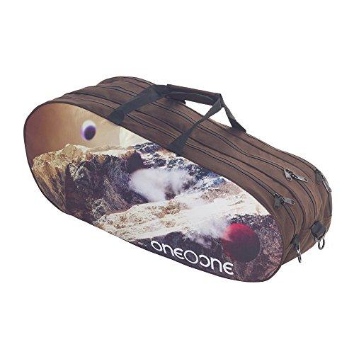 One O One - Canvas Collection Triple Brown & Mountain - Badminton/Tennis Kitbag