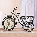 BXR BR Triciclo de la Vendimia Antigua de Doble Cara Relojes de Pared Marco de Hierro coleccionistas...