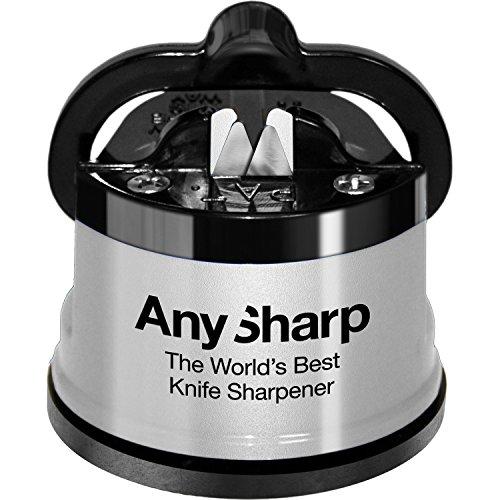 Anysharp ANYSHARPSILVERDE Global - Afilador de Cuchillos, Color Plateado