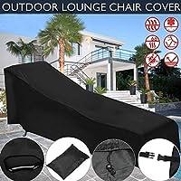 Sun Lounger Cover al Aire Libre Sunbed Cover Resistente al Agua Sun Shade Jardín Terraza Tumbona Muebles Carcasa–proteja su Camilla con Mal Tiempo