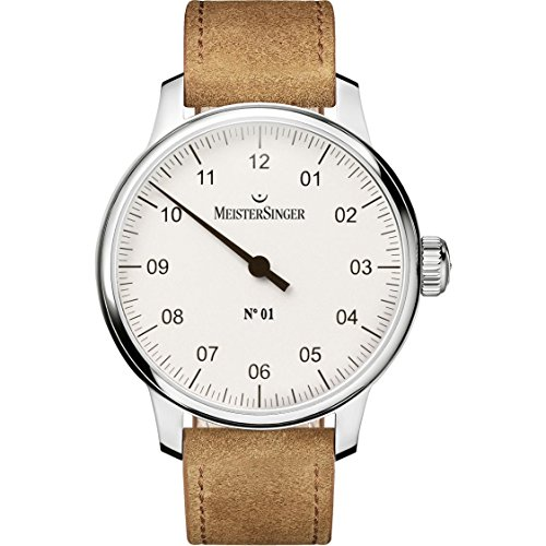 Meistersinger Men's No.01 43mm Leather Band Steel Case Mechanical Watch AM3301