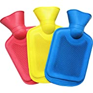 Medipaq® Mini Hot Water Bottles - 3 Pack - One of Each Colour Bed Warmer Water Bottle - 3x 750ml