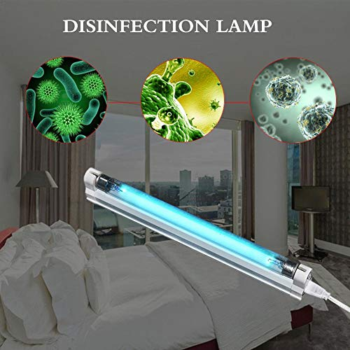 liuxi9836 UV-Licht Sterilisator Keimtötende Lampe UV-Licht Ozongenerator Desinfektion Deodor Tube Kill Staubmilben-Eliminator (220 V 8 W) - Desinfektion Licht