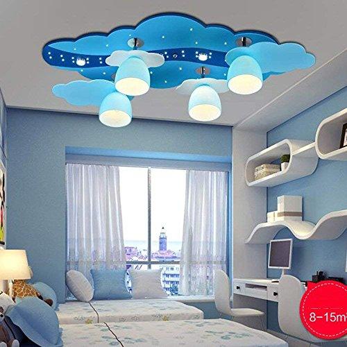 HYW Deckenleuchte-Sterne-Stil 3 Dateien dimmen Cartoon Schlafzimmer Lichter LED-Auge Hütte Deckenleuchte (22w / 30w) -Home warme Deckenleuchte,LED-22W-Fernbedienung