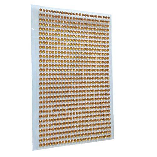 LXYQW Pegatina de uñas 750 Unids/Set 3Mm Cristales Personalizados Rhinestones Autoadhesivas Uñas Pegatinas Styling para Coches Motocicletas Computadora B