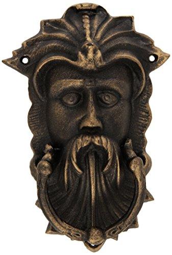 Design Toscano Sutherland House-Blattmaske, Authentischer Türklopfer aus Eisenguss