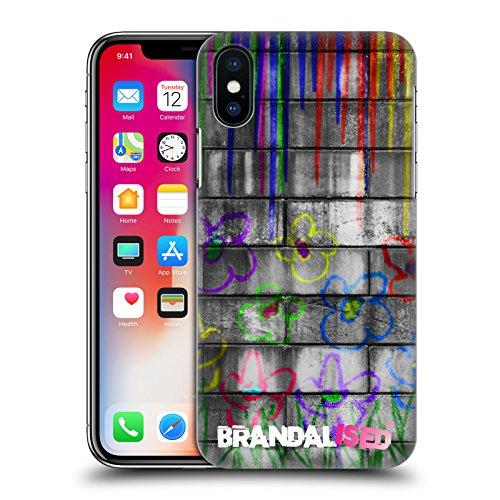 Offizielle Brandalised Affe Mit Zeichen Banksy Kunst Farbtropfen Ruckseite Hülle für Apple iPhone 6 / 6s Neon Blumen