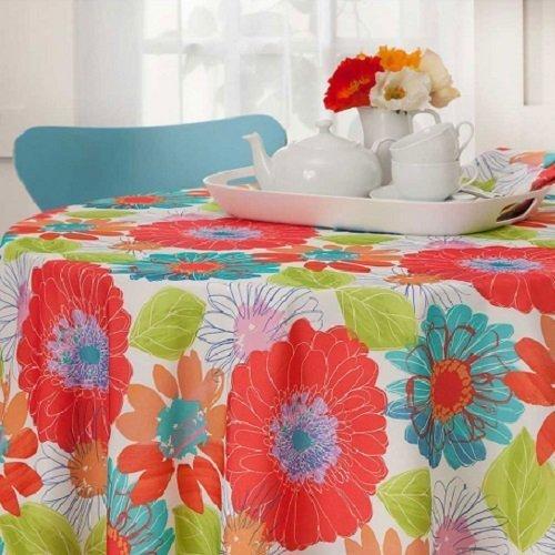 Arlee in Bloom Indoor Outdoor Tablecloth (Oblong 60\