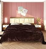 WOLTU Flanell Kuscheldecke Wohndecke Sofadecke TV Decke XL XXL Bettdecke Tagesdecke Flanelldecke Fleecedecke 220x240 cm Braun, BWK5007br-a