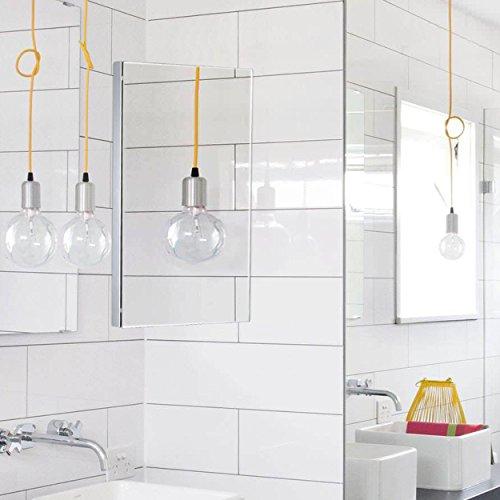 Harima-Badezimmer Spiegelschrank Eck Schrank mit Spiegel und 3Einlegeböden, Wand montiert, Rahmen aus Edelstahl - 6
