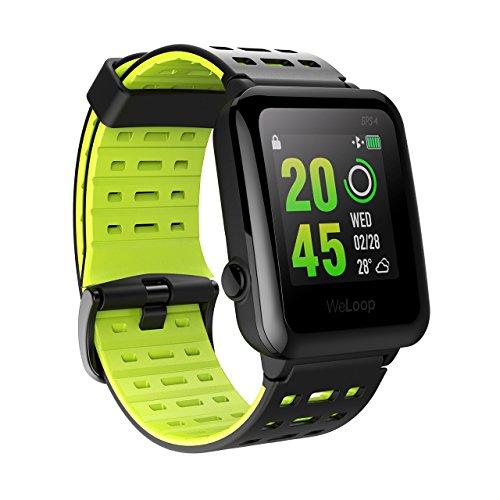 HR Sport GPS Smartwatch, OMORC Sportuhr Laufuhr Fitness Activity Tracker Herzfrequenz Schlaf Monitor 5ATM wasserdicht Laufen Schwimmen Radfahren Armbanduhr mit anpassbaren Zifferblätter
