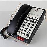 Phone Business Hotel One-Click Call Batteriefreie Installation Energieeinsparung und Umweltschutz Festnetz-Festnetztelefon mit Festnetzanschluss YHX (Farbe : Black)