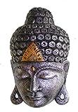Tallado a mano grande de oro y plata Bali máscara de Buda _ comercio justo