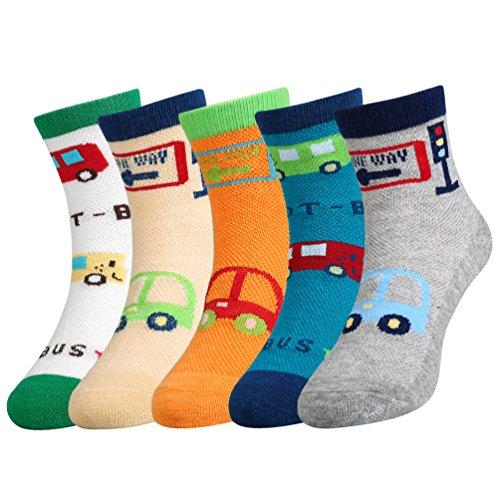 VBIGER Calzini Bambini Cotone Estate Caviglia Traspirante Cute Cartoon Mesh Socks 5 Paia