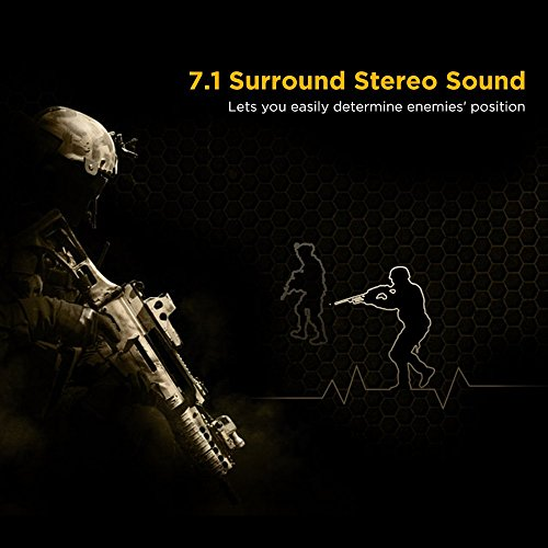 EasyAcc G1 Virtual 7.1 Surround-Sound Gaming Headset mit Vibrationsfunktion,USB PC,PS4 Gaming Kopfhörer - 3