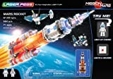 93418001 LASER PEGS Glowing LED Mars Rocket Rockets or Mars Explorer Start A Space Journey And Explore The Surface Of Mars LED Blocks