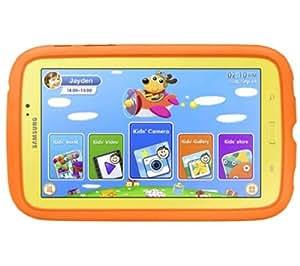 "SAMSUNG Galaxy Tab 3 Kids 7"" 8 Go - jaune/orange - Tablette enfant + Galaxy Tab 3 7"" Book Cover EF-BT210 - rouge grenat - Etui à rabat"
