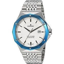 EDOX 53005 3BUM AIN - Reloj de pulsera hombre, acero inoxidable, color Plata