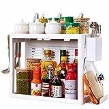 Yuyandejia Regal Doppelschicht Küche Werkzeughalter Gewürzregal Besteckregal Aufbewahrungsbox Gerätekorb Lagerregale (Größe : B)
