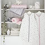 Silentnight Safe Nights Cot Bed Fitted Sheets (Pack of 2) - Grey Star