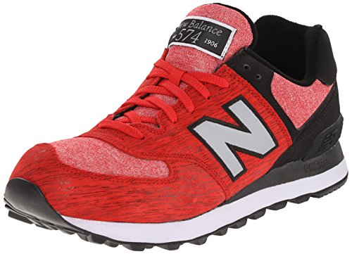 New Balance ML574 D, Baskets mode homme Rouge (Ttb Red/Black)