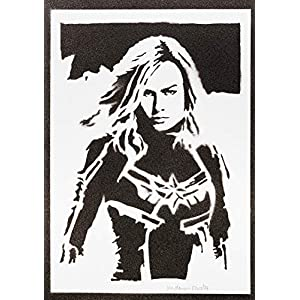 Captain Marvel Poster Plakat Handmade Graffiti Street Art – Artwork