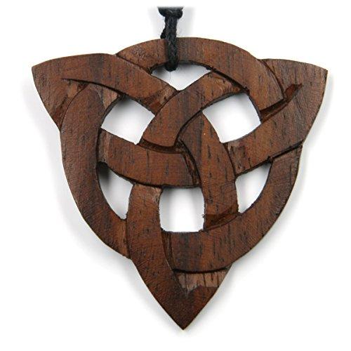 Drachensilber Keltischer Schmuck Kelten Knoten Holz Kette Anhänger Taliesin natürlicher Holzschmuck Kettenanhänger