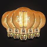 5×Neverland E27 40W 50V-220V G95 Edison Lampe Filament Glühlampe Retro Licht Vintage Glühbirne Antik Beleuchtung Warmweiß