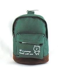 1 Porte monnaie en forme de sac à dos avec mousqueton pour filles et garçons - couleur unie - Modèles aux choix - Dim. : 12X9X6 cm