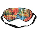 Mulberry Silk Sleep Mask And Blindfold River Comfortable And Super Smooth Eye Mask With Adjustable Strap